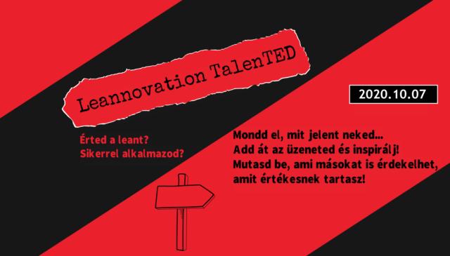 Leannovation TalenTED – légy konferencia előadó!