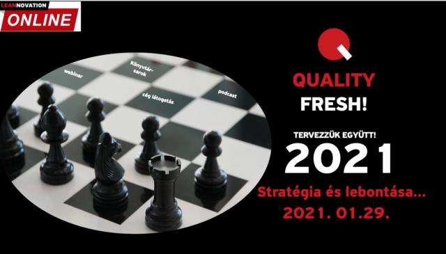 Quality Fresh! – Stratégia és lebontása (2021)